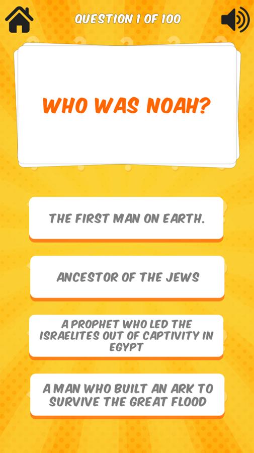 Bible Quiz Game Screen Screenshot.