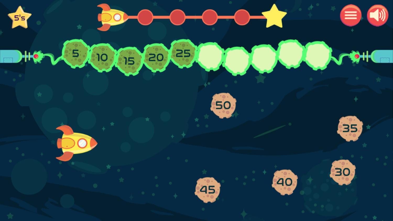 Blast Off Numerical Order Game Play Screenshot.