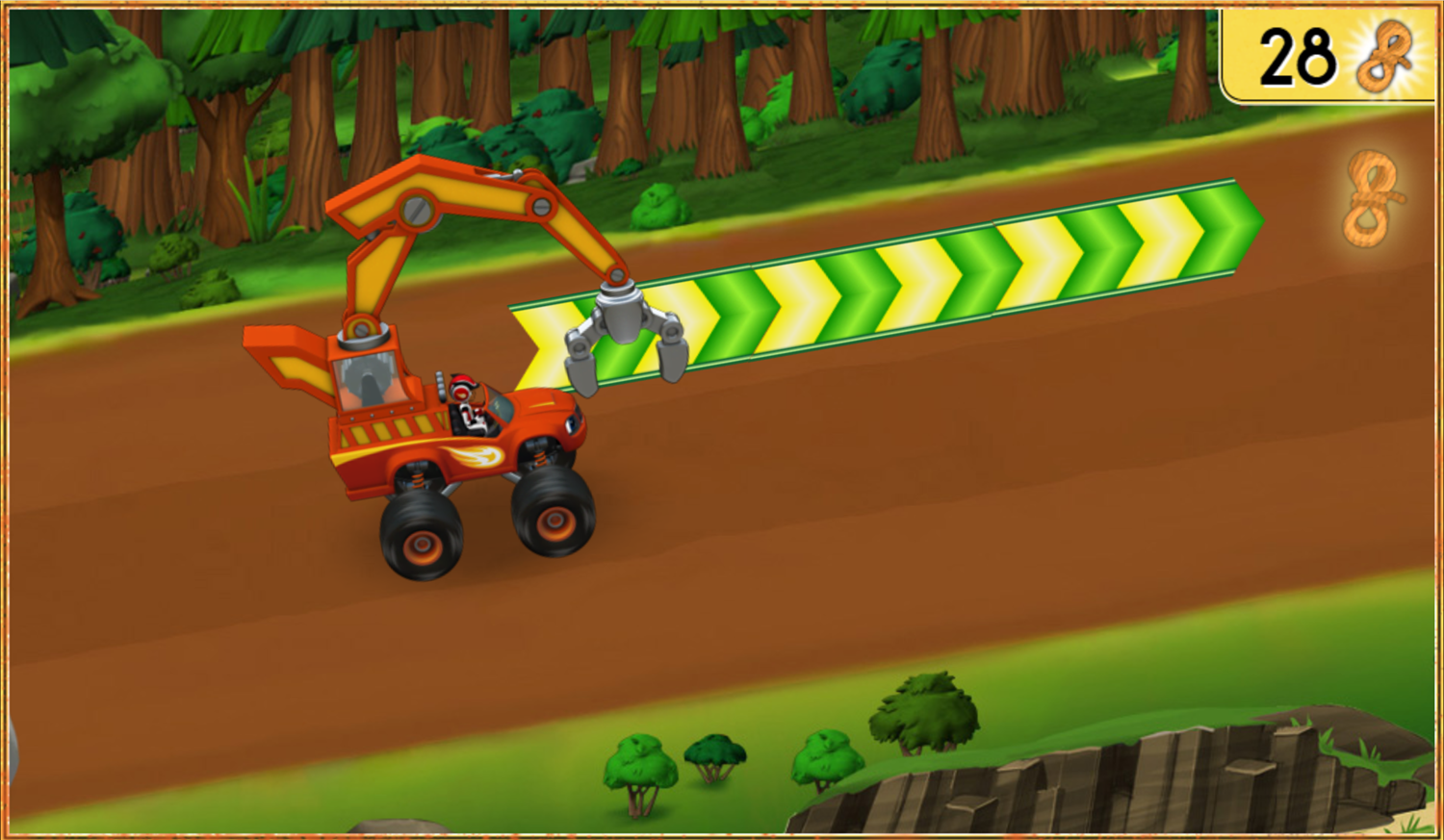 Blaze and the Monster Machines Mud Mountain Rescue Wood Chipping Truck Screenshot.