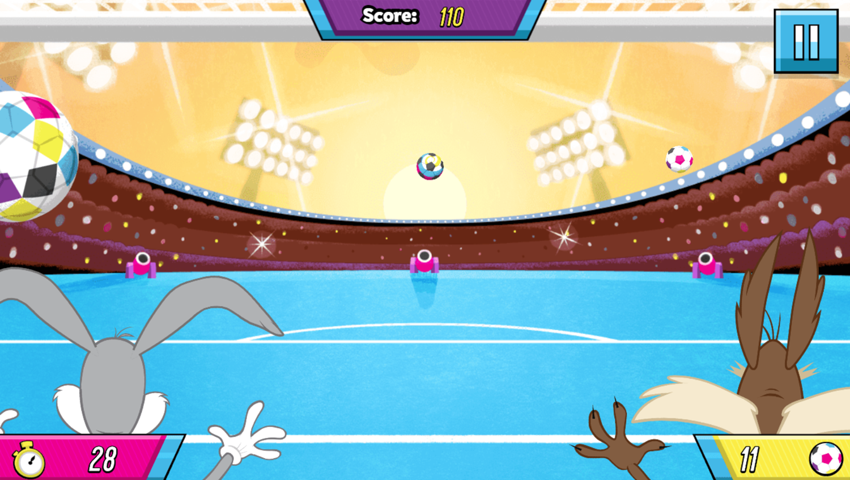 Boomerang All Stars Super Goalie Game Play Screenshot.