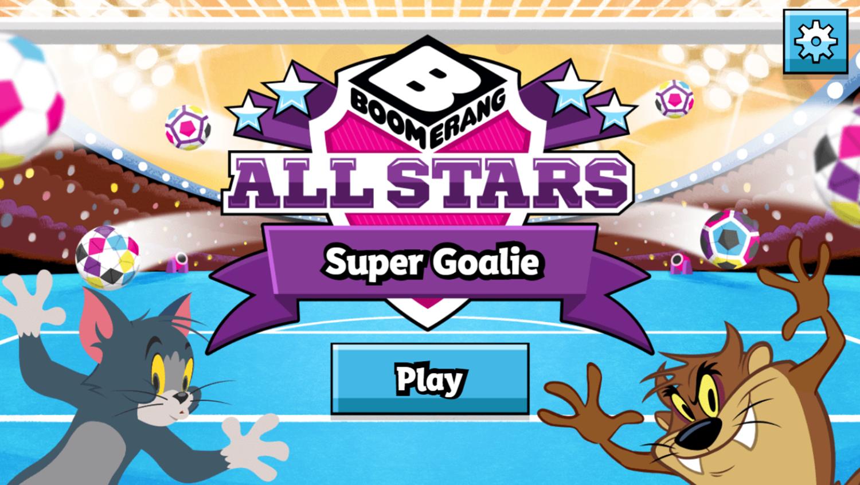 Boomerang All Stars Super Goalie Game Welcome Screen Screenshot.