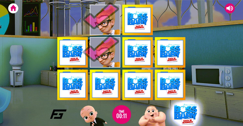 Boss Baby Matching Pairs Match Made Screenshot.