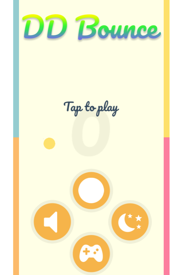 Bounce Game Welcome Screenshot.