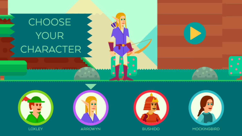 Bow And Angle Game Choose Character Screenshot.