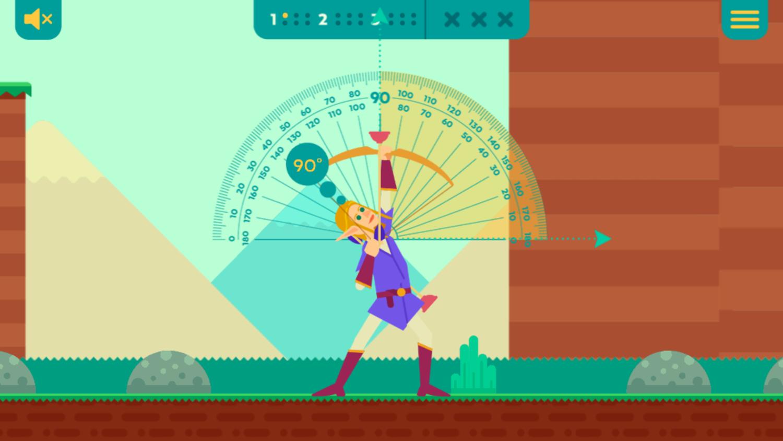 Bow And Angle Game Play Screenshot.