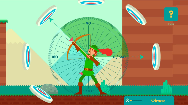 Bow And Angle Game Obtuse Angle Screenshot.