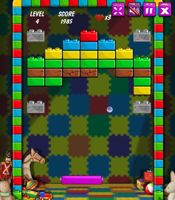 Brick Out Game Screenshot.