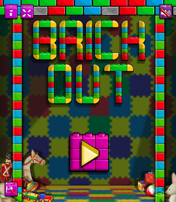 Brick Out Welcome Screenshot.