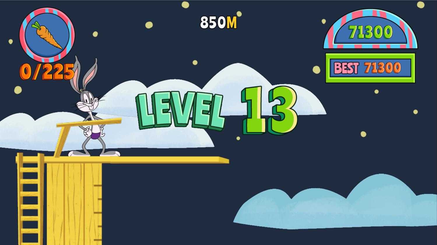 Bugs Bunny Dare Diver Level Start Screenshot.