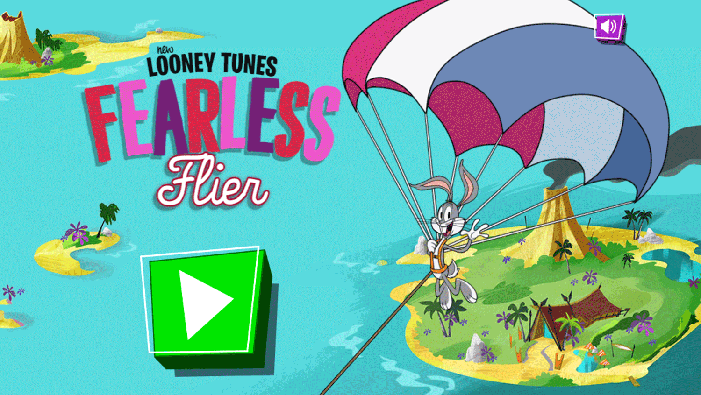Bugs Bunny Fearless Flier Welcome Screen Screenshot.