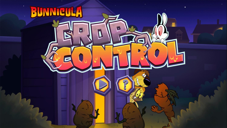 Bunnicula Crop Control Game Welcome Screen Screenshot.