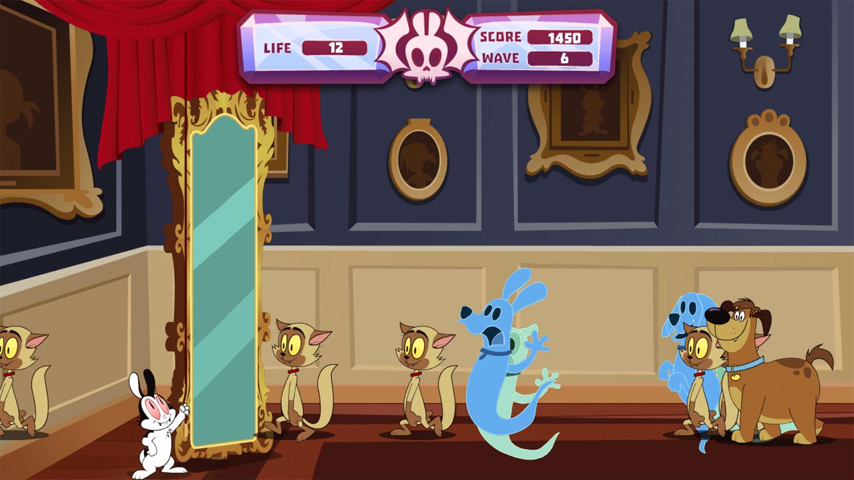 Bunnicula Ghost Guard Game Screenshot.