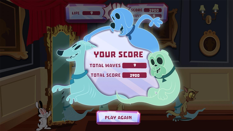 Bunnicula Ghost Guard Game Score Screenshot.
