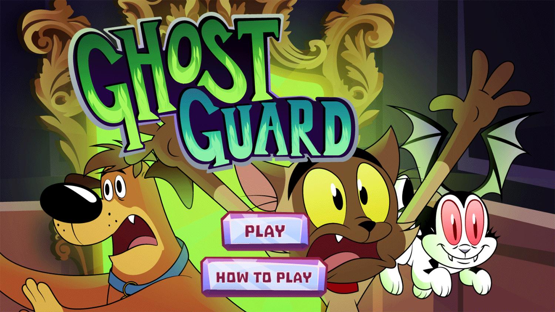 Bunnicula Ghost Guard Game Welcome Screen Screenshot.