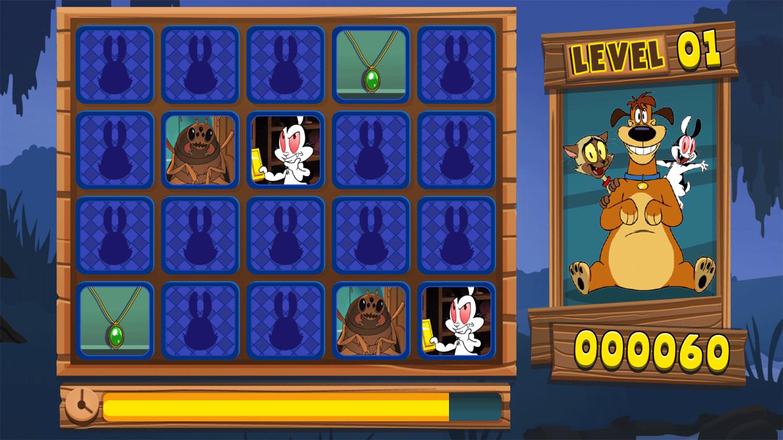 Bunnicula Monster Match Game Screenshot.
