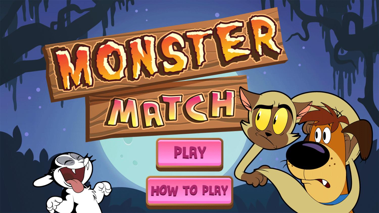 Bunnicula Monster Match Game Welcome Screen Screenshot.