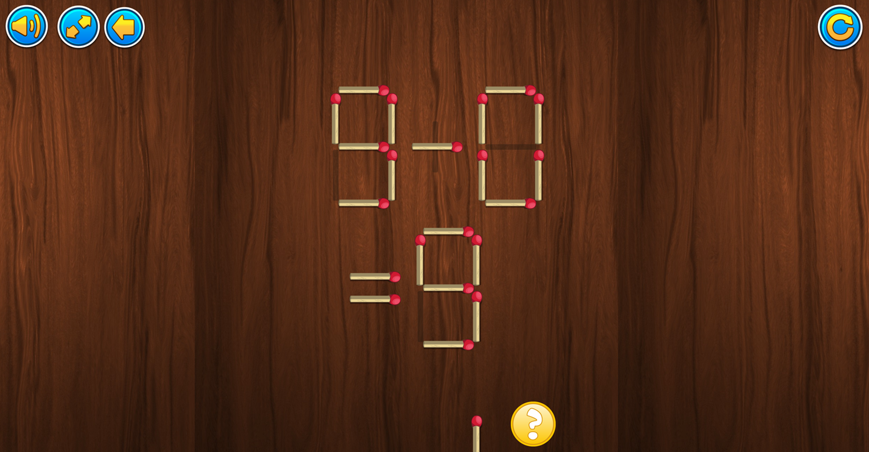 Burn Matches Game Screenshot.