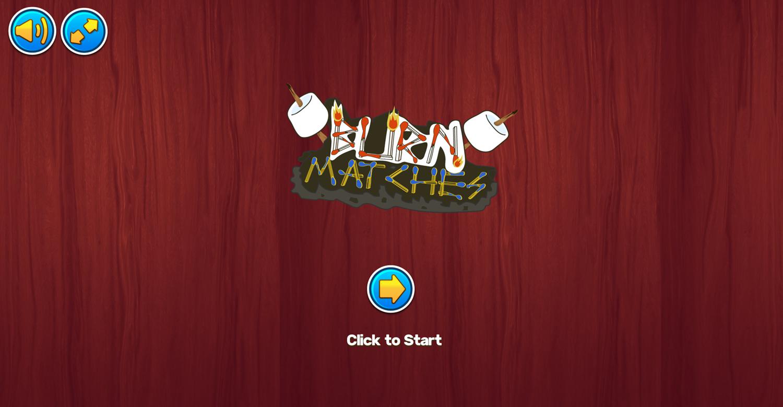 Burn Matches Game Welcome Screenshot.