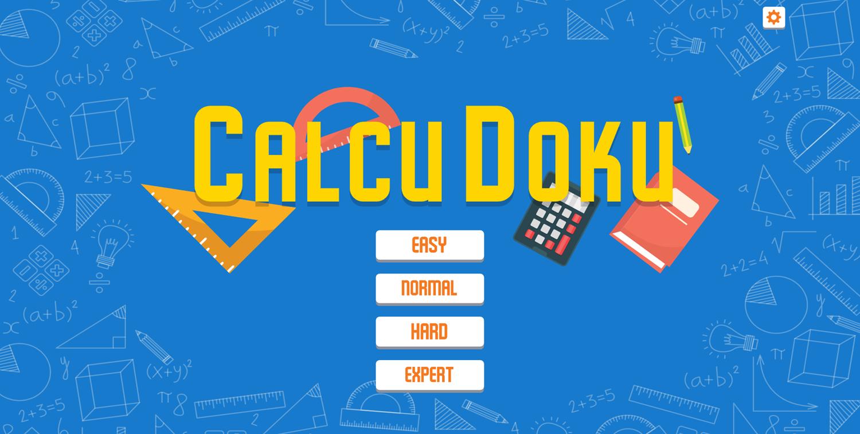 CalcuDoku Game Difficulty Mode Screenshot.