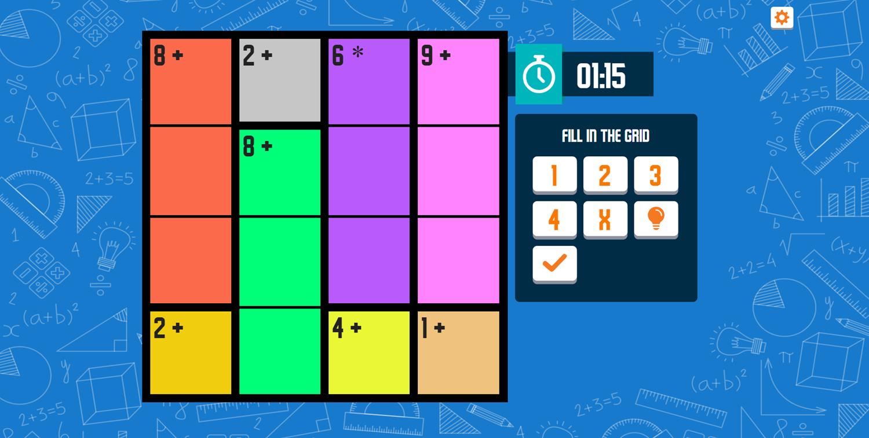 CalcuDoku Game Screenshot.