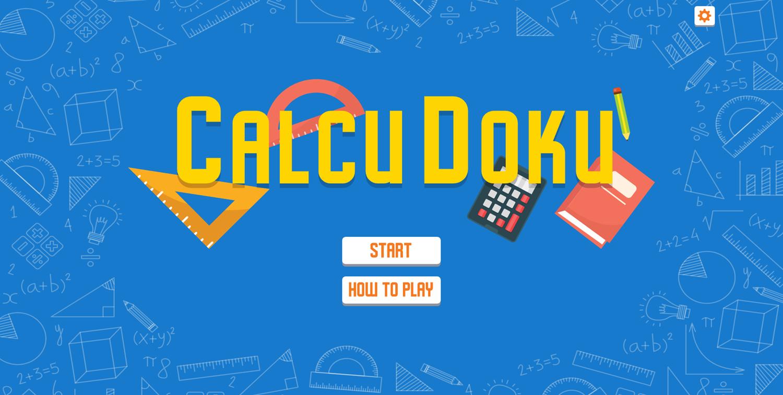 CalcuDoku Welcome Screen Screenshot.
