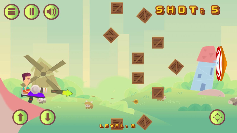 Cannon Shot Game Screenshot.