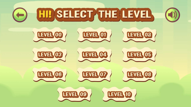 Cannon Shot Level Selection Screenshot.