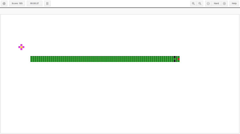 Canvas Snake Welcome Screen Screenshot.