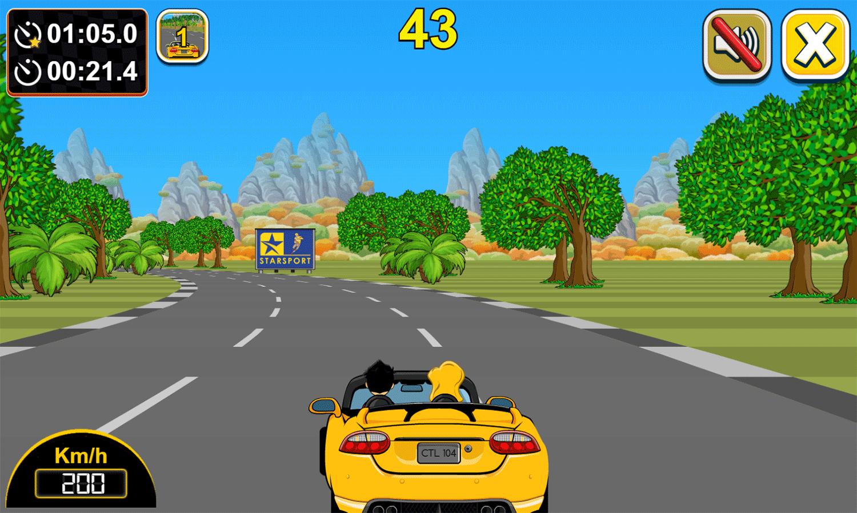 Car Rush Game Play Screenshot.