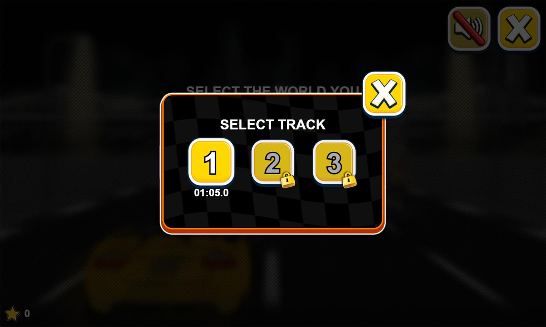Car Rush Game Select Track Screenshot.
