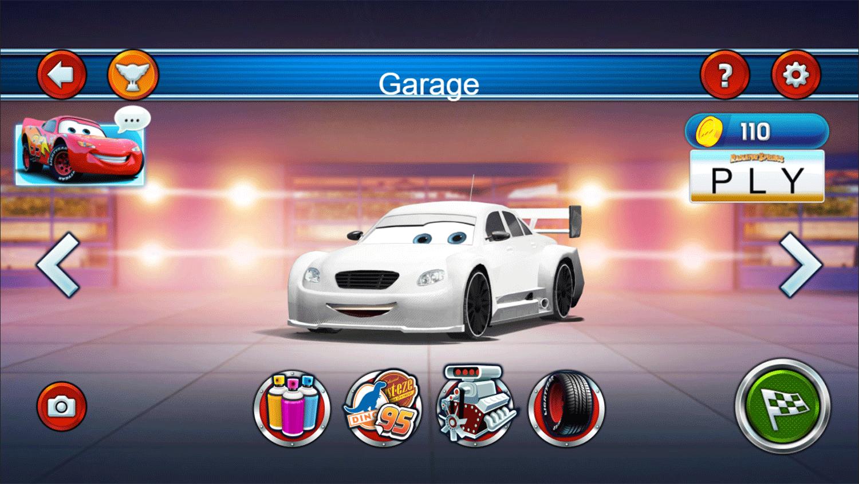 Cars Lightning Speed Game Garage Screenshot.