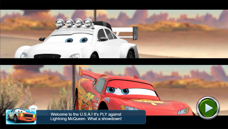 Cars Lightning Speed Game Versus Screenshot.