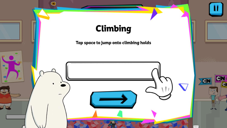 Cartoon Network Summer Games Climbing How To Play Screenshot.