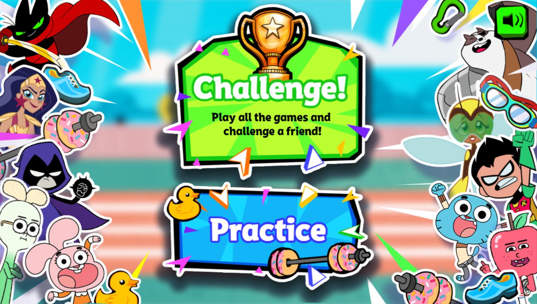 Cartoon Network Summer Games Main Menu Screenshot.