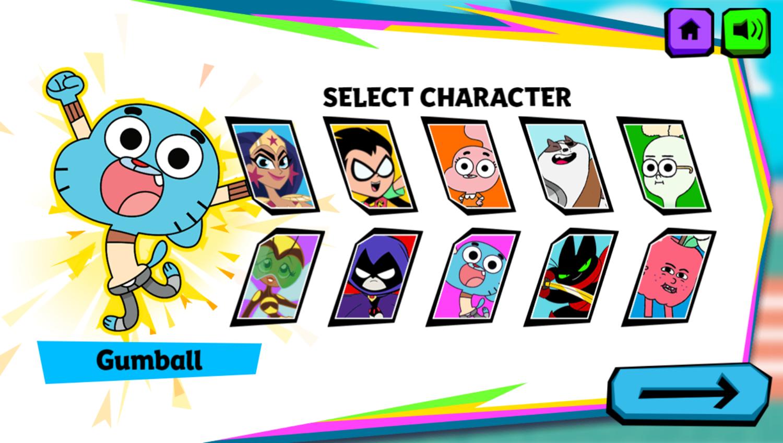 Cartoon Network Summer Games Select Character Screenshot.