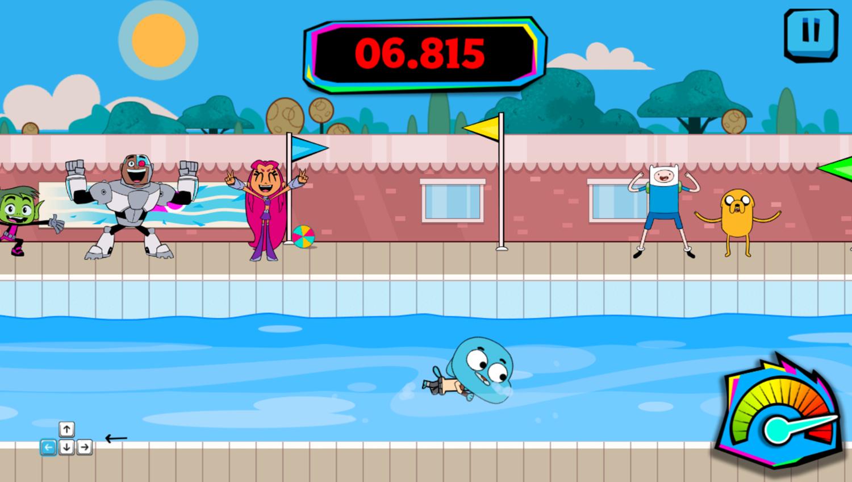 Cartoon Network Summer Games Swimming Gameplay Screenshot.