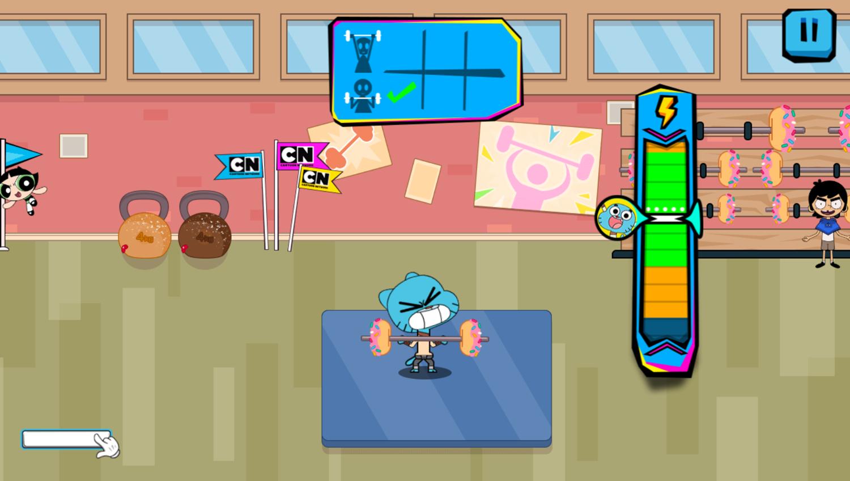 Cartoon Network Summer Games Game Weightlifting Gameplay Screenshot.