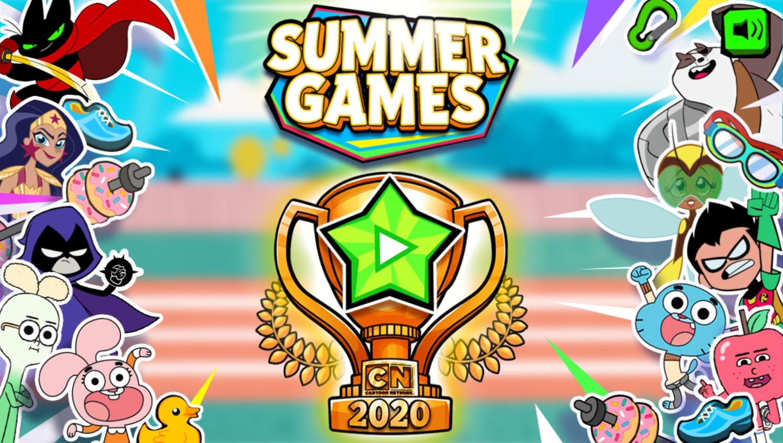Cartoon Network Summer Games Welcome Screen Screenshot.