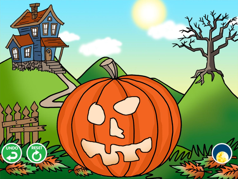Carve It Game Carved Jack-O-Lantern Screenshot.