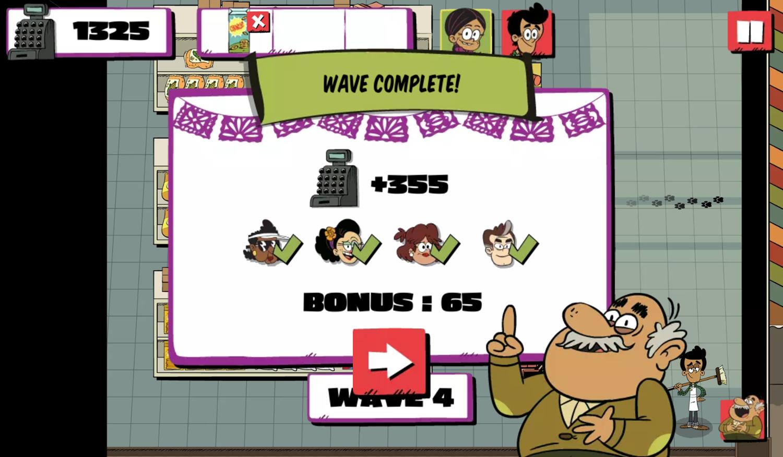 Casagrandes Mercado Mayhem Game Wave Complete Screenshot.