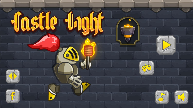 Castle Light Welcome Screen Screenshot.