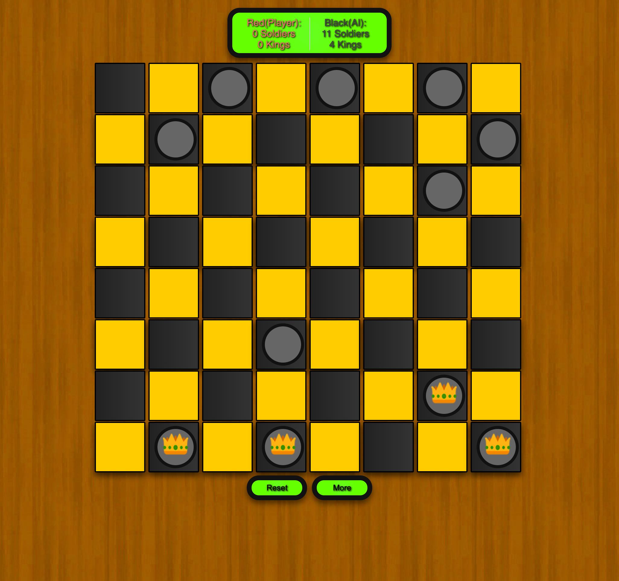 Free Checkers Game Online Black Wins Screenshot.