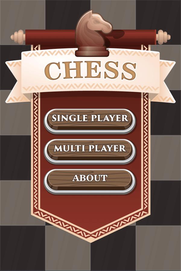 Chess Board Game Main Menu Screenshot.