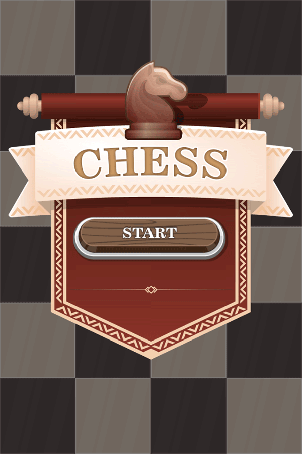 Chess Board Game Welcome Screen Screenshot.