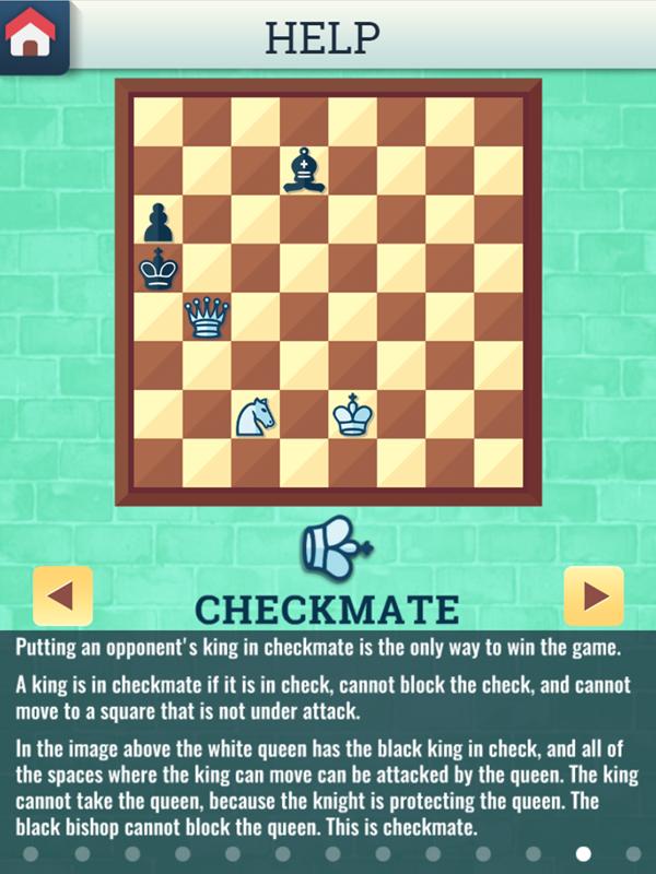 Chess Grandmaster Checkmate Instructions Screenshot.