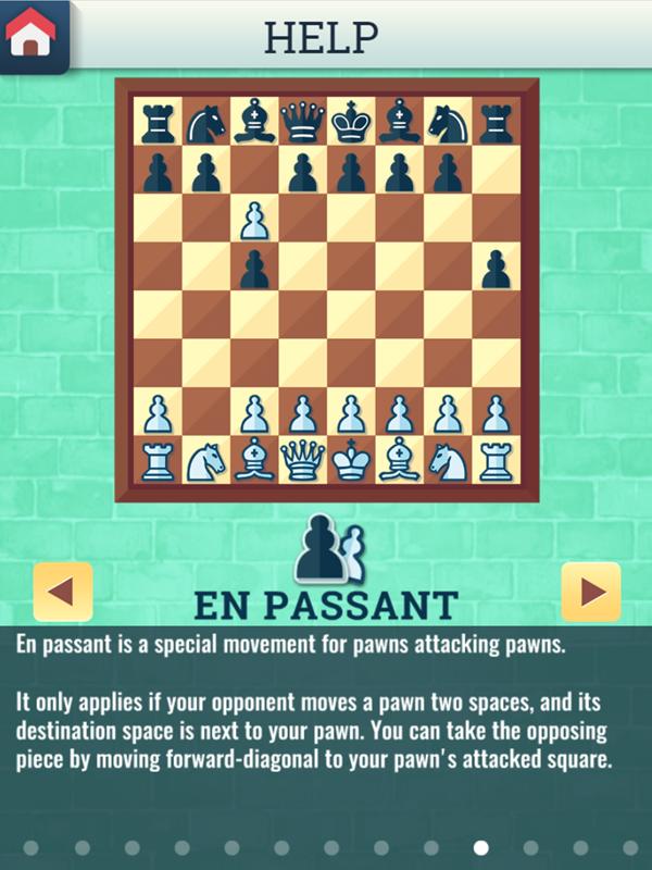 Chess Grandmaster En Passant Movement Instructions Screenshot.