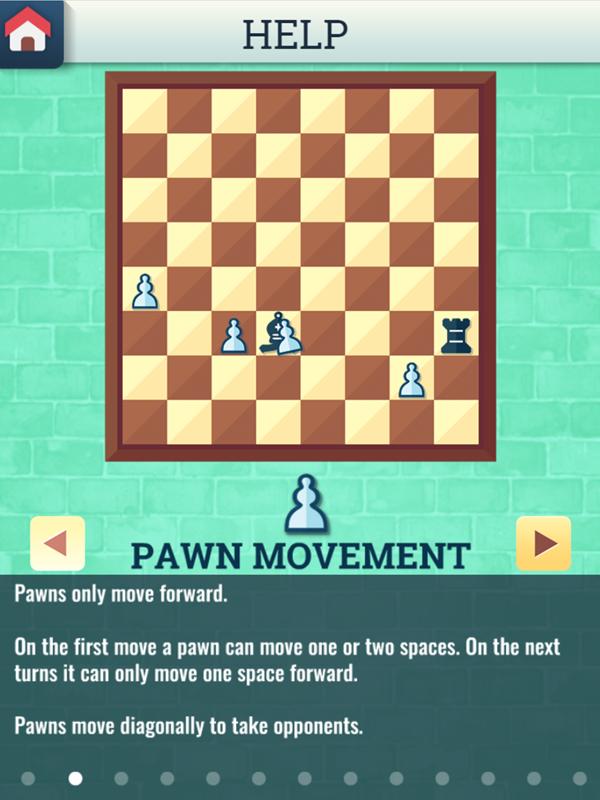 Chess Grandmaster Pawn Movement Instructions Screenshot.