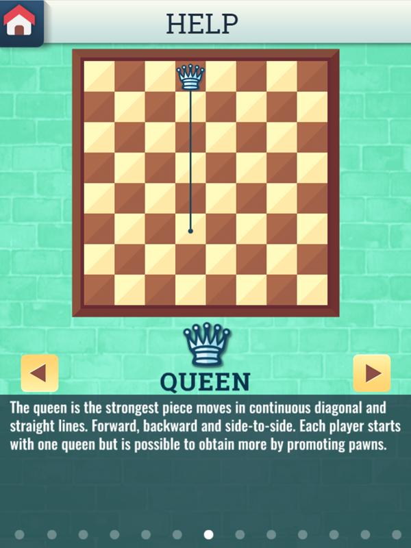 Chess Grandmaster Queen Movement Instructions Screenshot.