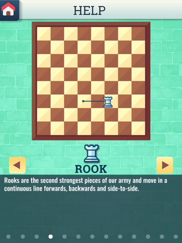 Chess Grandmaster Rook Movement Instructions Screenshot.