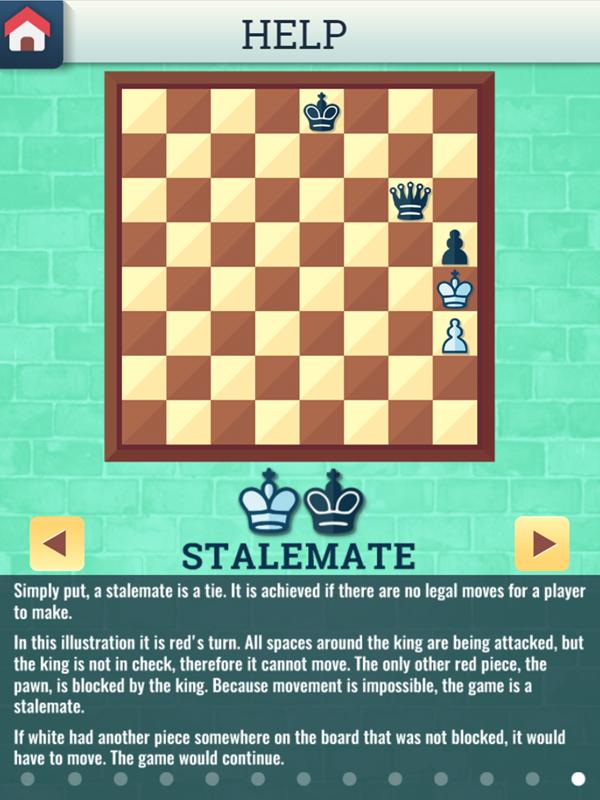 Chess Grandmaster Stalemate Instructions Screenshot.